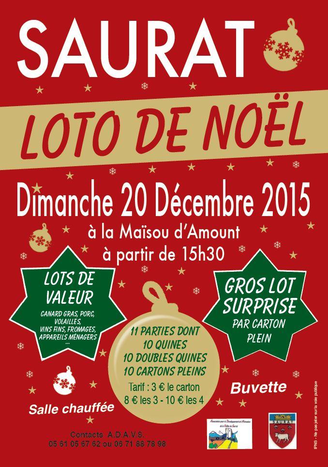 Loto à Saurat le 20 décembre 2015
