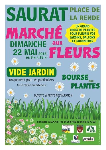Saurat Marché aux fleurs - Saurat Ariège