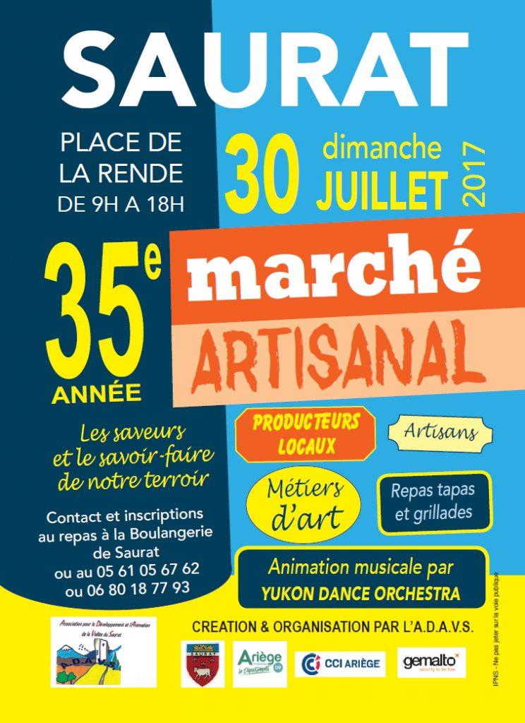 marché artisanal à Saurat  30 Juillet 2017