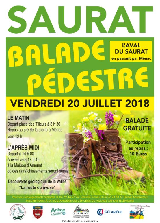 Saurat Balade pédestre le 20 juillet 2018