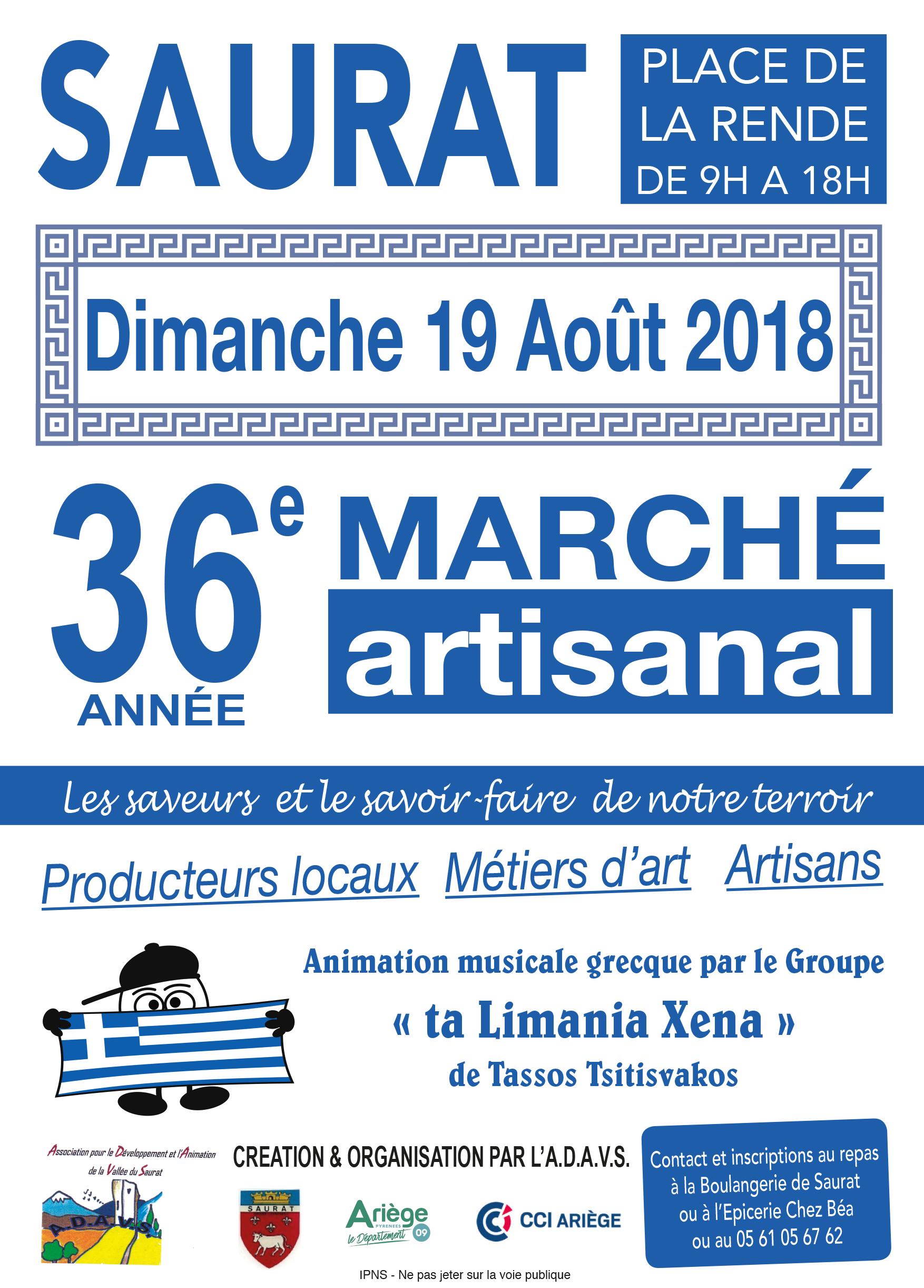 Saurat Marché artisanal d'aout 2018