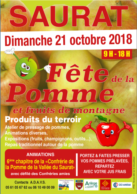 Affiche fête de la pomme 2018