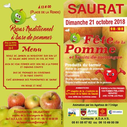 Flyer Fête de la pomme 2018
