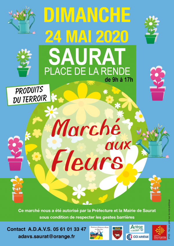 marché aux fleurs -Saurat - 24 mai 2020
